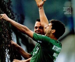 Pedrinho e Munhoz comemoram pelo Palmeiras em 2004