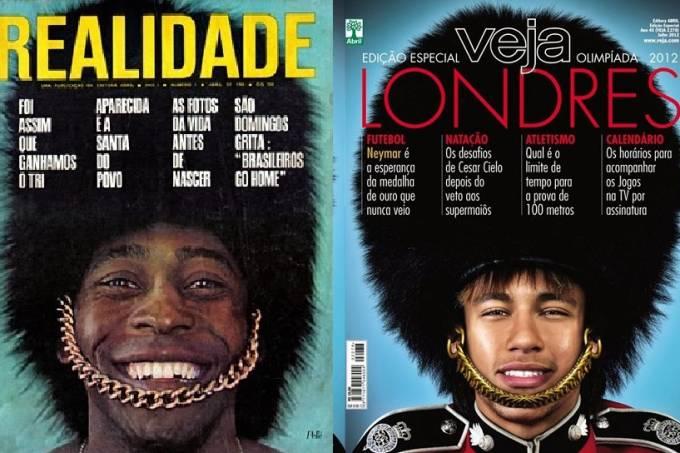 Pelé e Neymar: belas capas não deram sorte ao Brasil