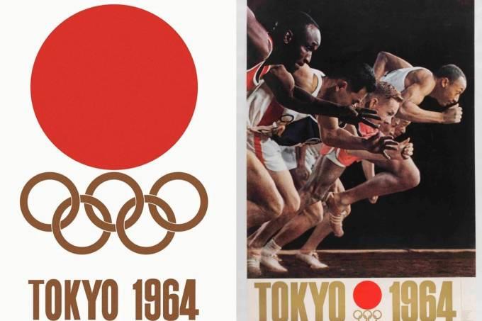 Os pôsteres oficiais de 1964: obra-prima deYusaku Kameshura