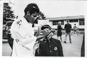 Aida Santos na Vila Olímpica, em 1964 -