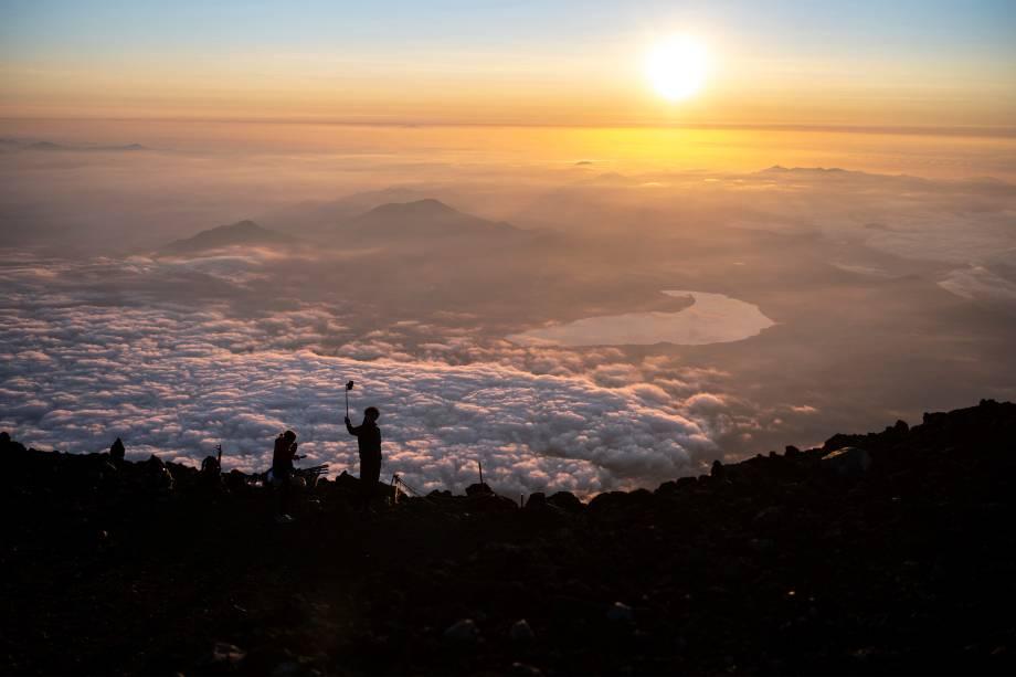Nascer do sol no Monte Fuji -