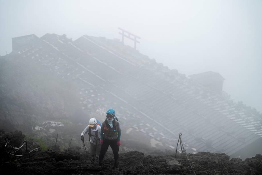 Caminhada no Monte Fuji -