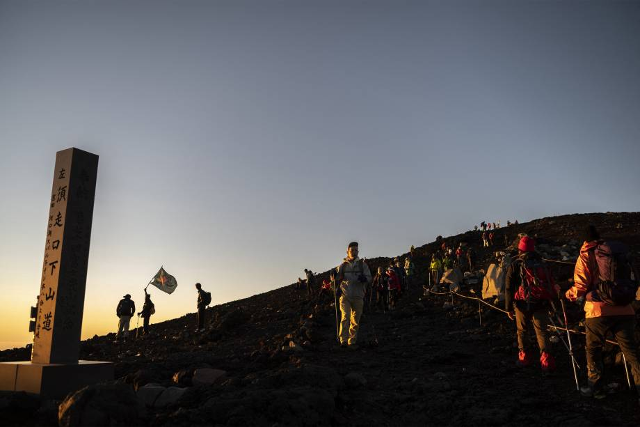 Nascer do sol no Monti Fuji -