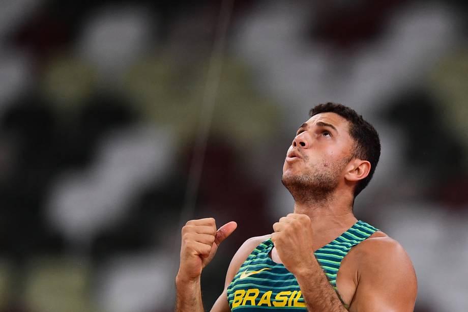 Thiago Braz garantiu a medalha de bronze -