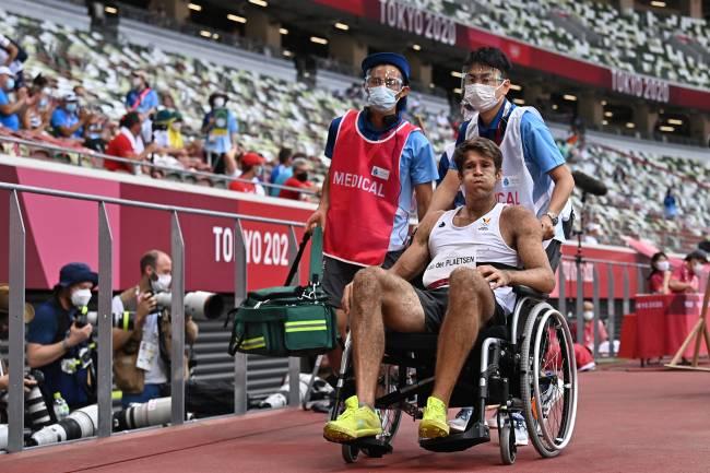 Van Der Plaetsen deixou a pista de cadeira de rodas
