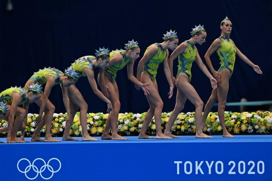 Equipe espanhola iniciam a rotina da natação artística -