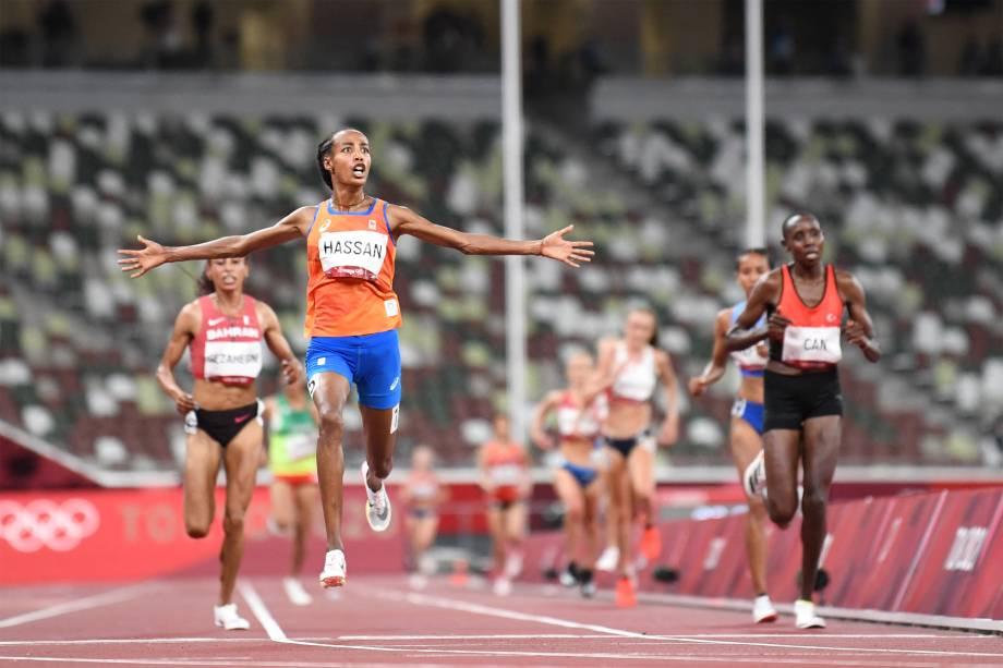 Sifan Hassan, da Holanda, vence a prova dos 10.000m -