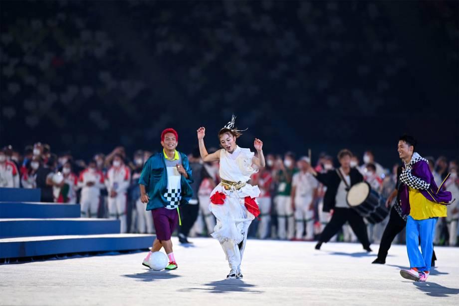 Apresentação na cerimônia de enceramento dos Jogos Olímpicos -