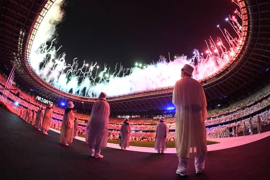 Queima de fogos no encerramento dos Jogos Olímpicos -
