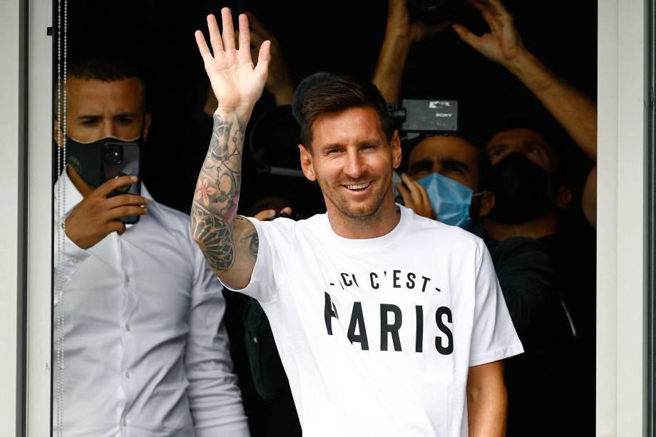 Novo reforço, Messi em sua primeira aparição em Paris -