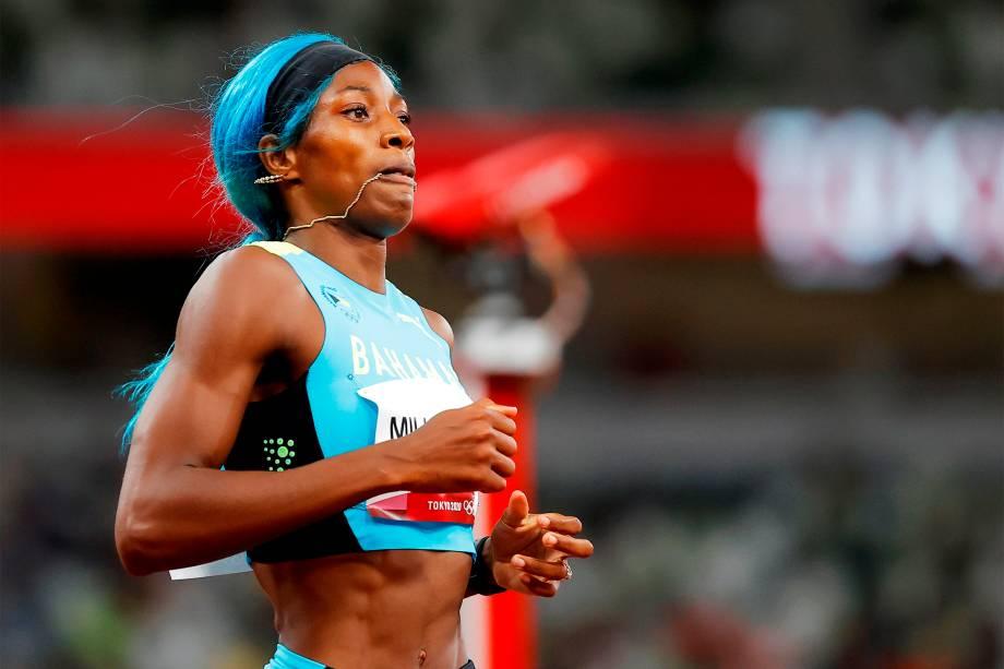 Shaunae Miller-Uibo, da Bahamas, chega em segundo lugar na semifinal dos 200m -