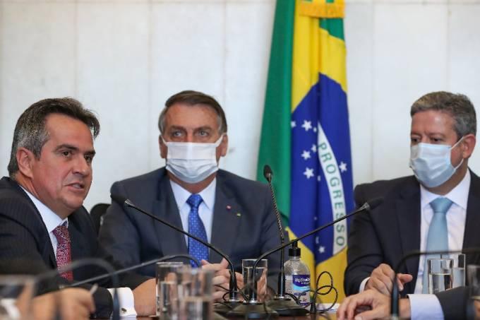 O CENTRÃO E O GOVERNO// O ministro Ciro Nogueira, o presidente Jair Bolsonaro e o presidente da Câmara, Arthur Lira –