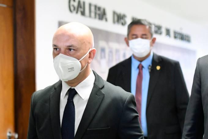 O empresário José Ricardo Santana em sua chegada ao Senado para depor na CPI da Pandemia – 26/08/2021 –