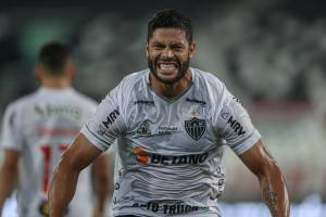 Hulk comemora o gol marcado pelo Atlético Mineiro -