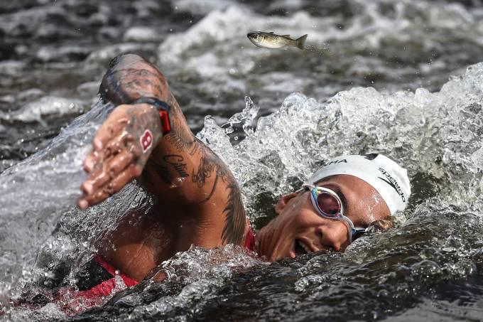 Ana Marcela Cunha vencedora da prova de maratonas