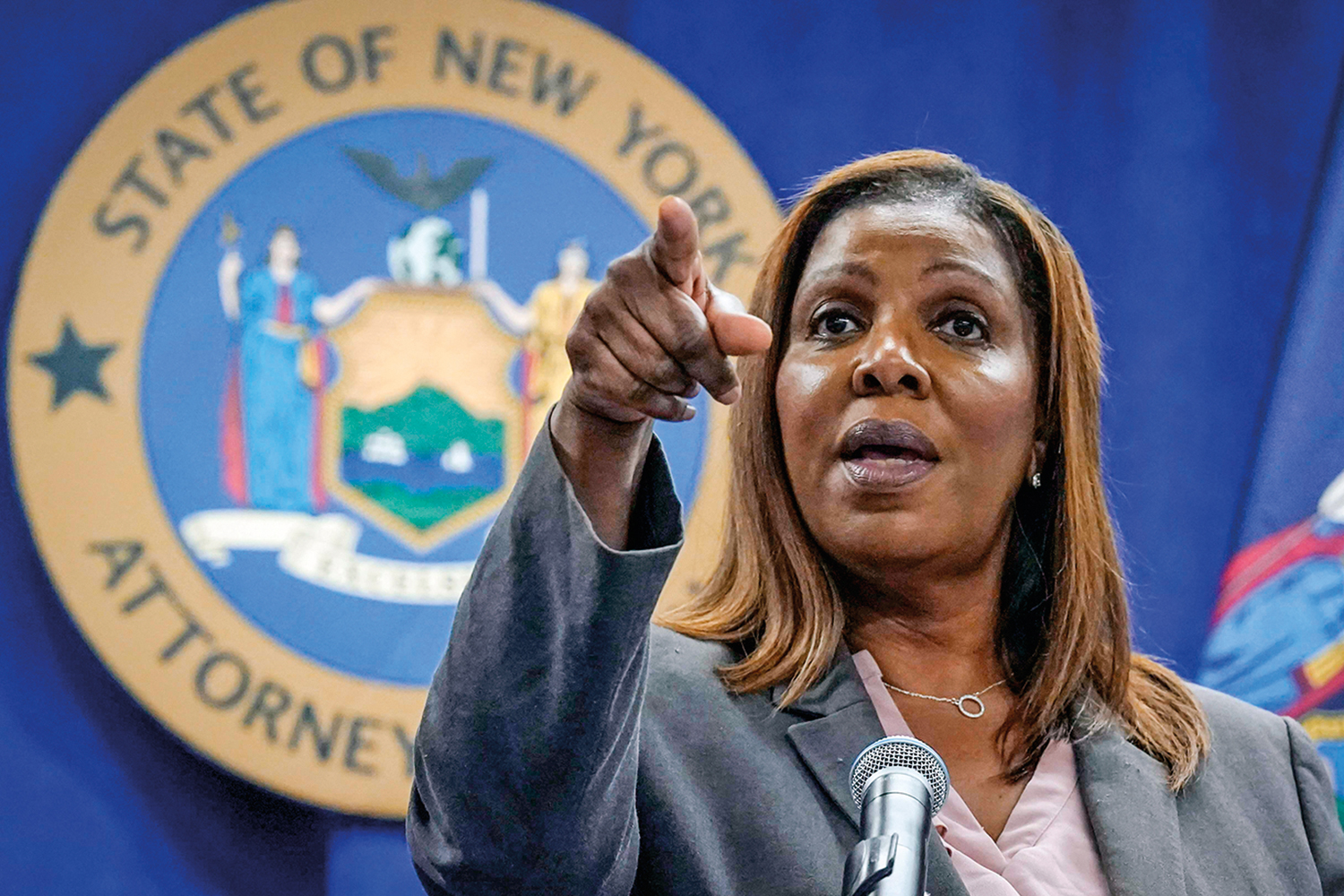 FILE - This photo from Friday May 21, 2021, shows New York Attorney General Letitia James at a news conference in New York. James is overseeing an interview of Gov. Andrew Cuomo by investigators with the state attorney general's office, who are looking into sexual harassment allegations as the probe nears its conclusion. Credito: Richard Drew/AP/Imageplus