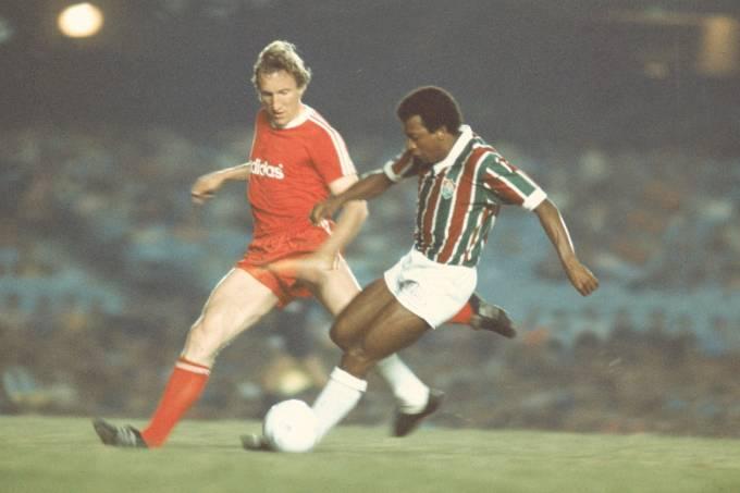 Cafuringa, do Fluminense, no jogo contra o Bayern.