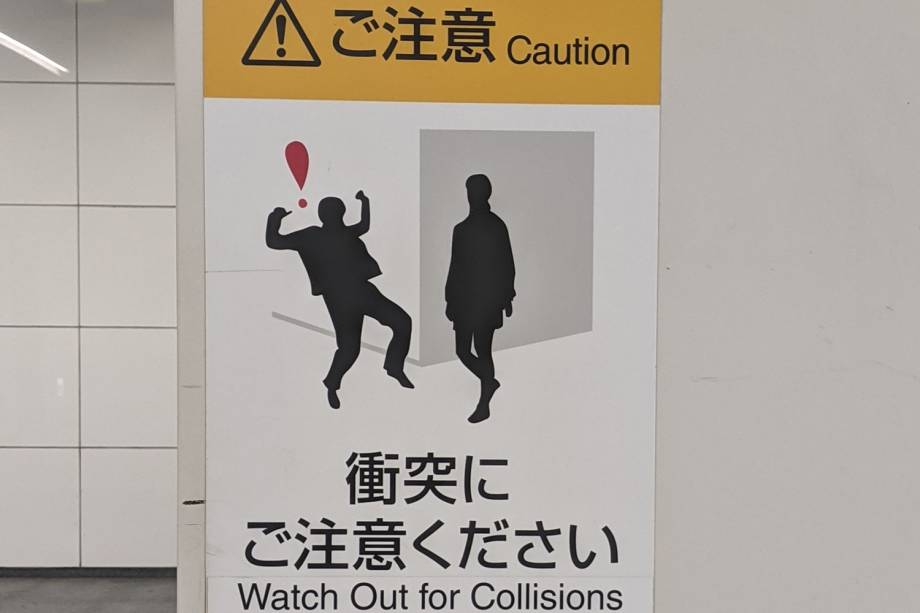 Cuidado com colisão na virada da parede -