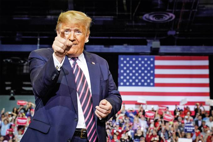 U.S. President Trump holds a campaign rally in Las Vegas, Nevada