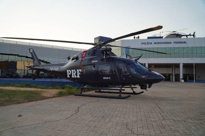 """Dois helicópteros monomotores """"Leonardo AW119 Koala"""", com capacidade para até seis passageiros, foram adquiridos para a Polícia Rodoviária Federal (PRF)"""