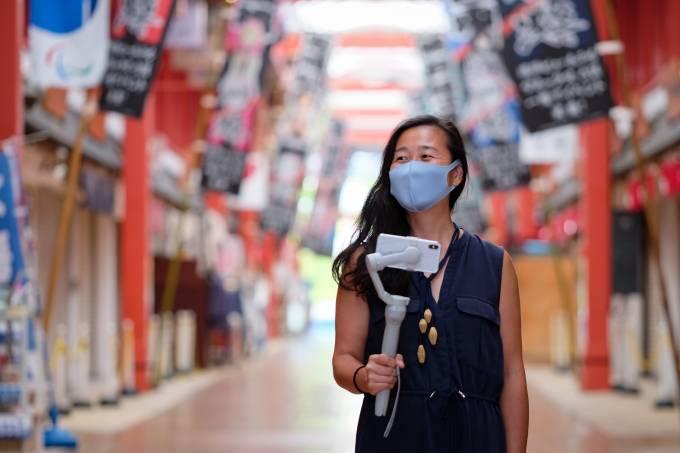 Meg Yamagute, do Mais Japan Tours, é guia de turismo em Tóquio há 8 anos (Carlos Kato)