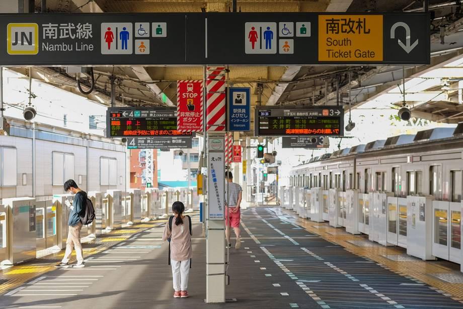Plataforma de estação de trem -