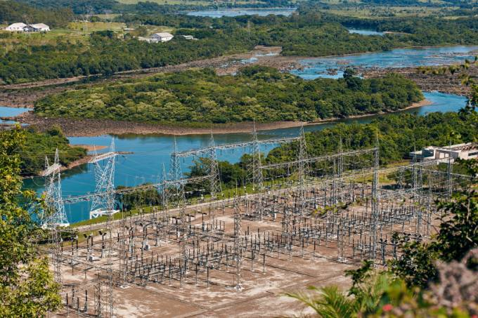 Furnas Hydroelectric Plant In Brazil