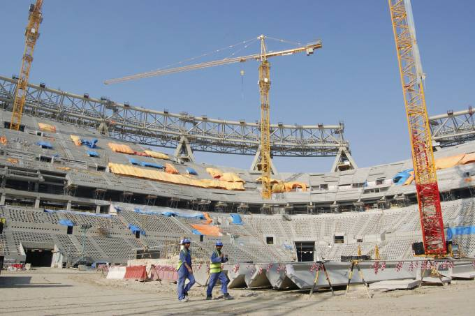 Lusail Stadium in Doha