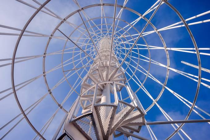 Telephone communication tower.