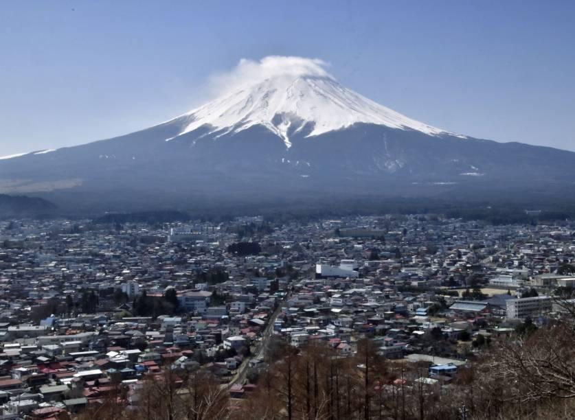 Monte Fuji, o mais alto do Japão com 3.776 metros -