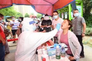 Campanha de testagem dos moradores de Wuhan após surto na cidade - 03/08/2021