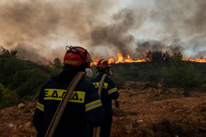 Forest Fires In Greece