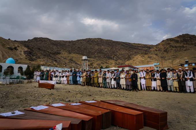 FUNERAL FOR VICTIMS OF US AIRSTRIKE