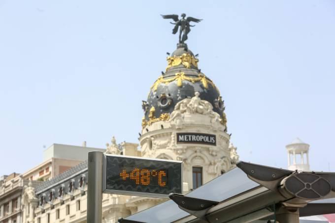 Termômetro em Madri
