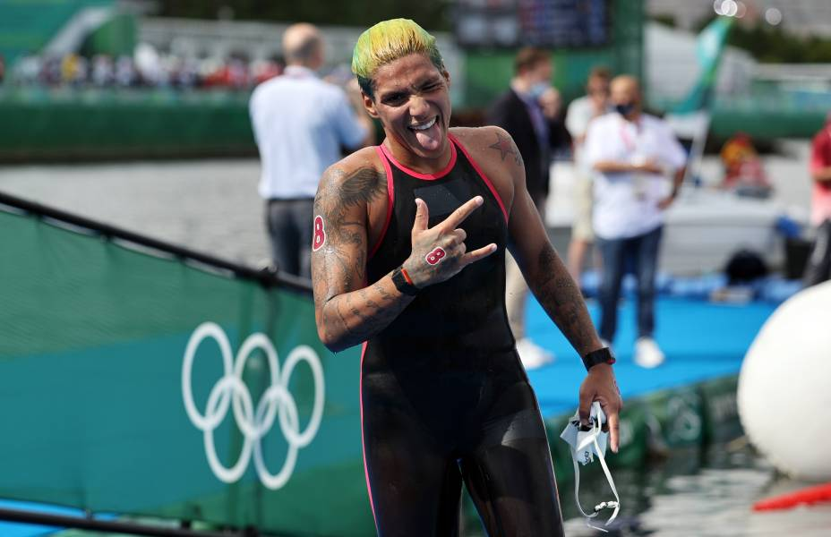 A atleta brasileira Ana Marcela Cunha -