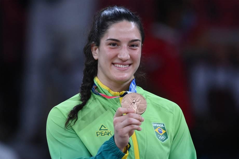 Mayra Aguiar, do Brasil, ganha o bronze no judô -
