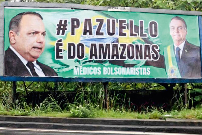 PLANO B - Cartazes em prol do ex-ministro no Amazonas: movimento conservador trabalha para que ele saia a governador -