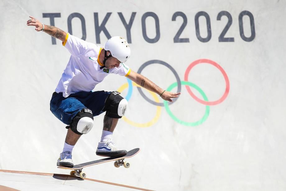 O skatista brasileiro Pedro Barros -