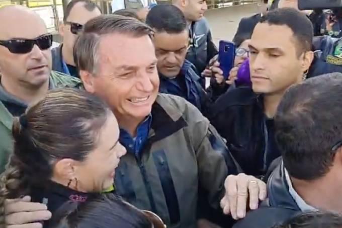 Presidente Jair Bolsonaro participa de 'motosseata' em Brasília (08/08/2021)