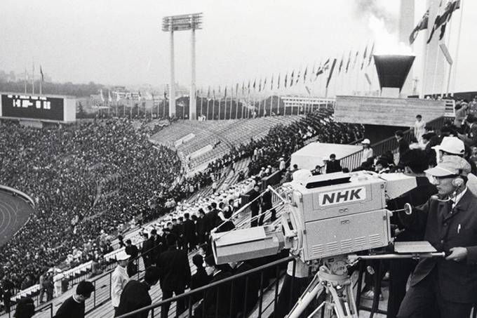 Separate Luminance Color Camera At Tokyo Olympics In 1964