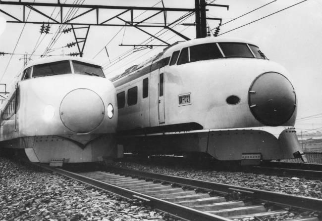 O Shinkansen, o trem-bala japonês: inaugurado em 1964, ano da primeira Olimpíada em Tóquio