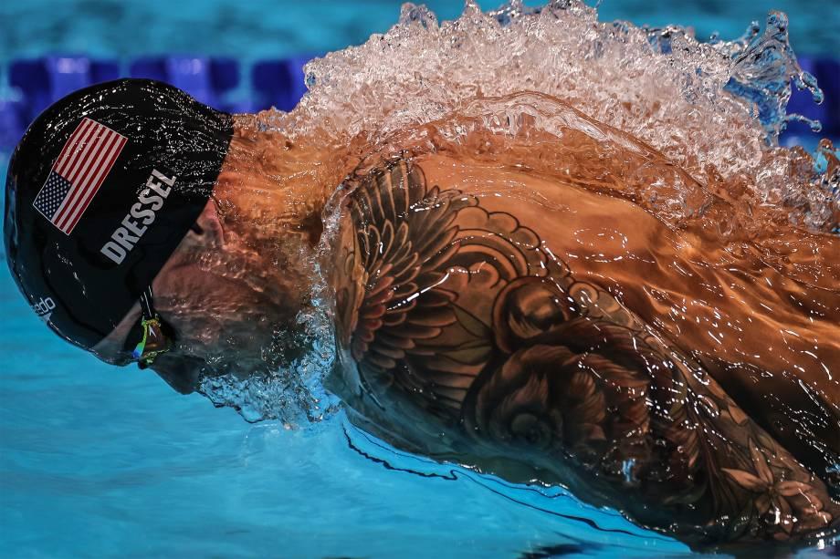 Caeleb Dressel, dos EUA, na final dos 50m livre -