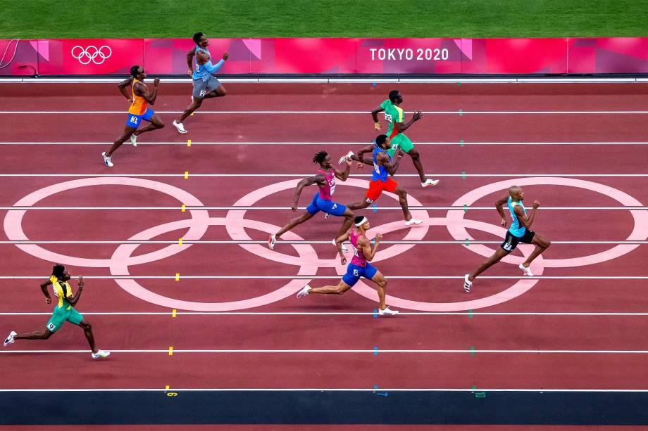 Final dos 400m no Olympic Stadium -