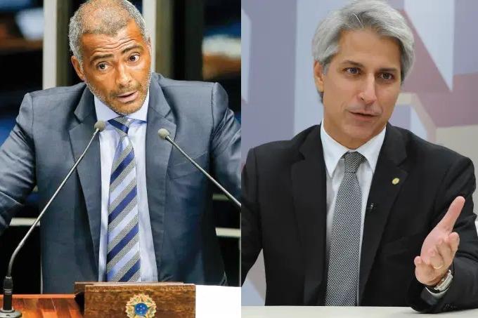Romário Faria e Alessandro Molon