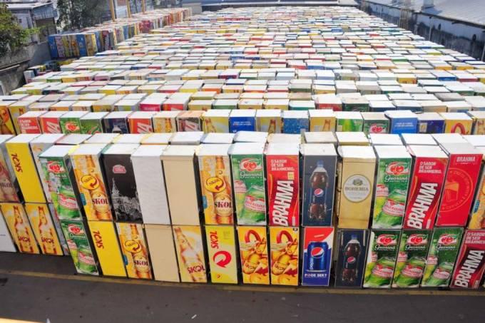 Ambev geladeiras recicladas