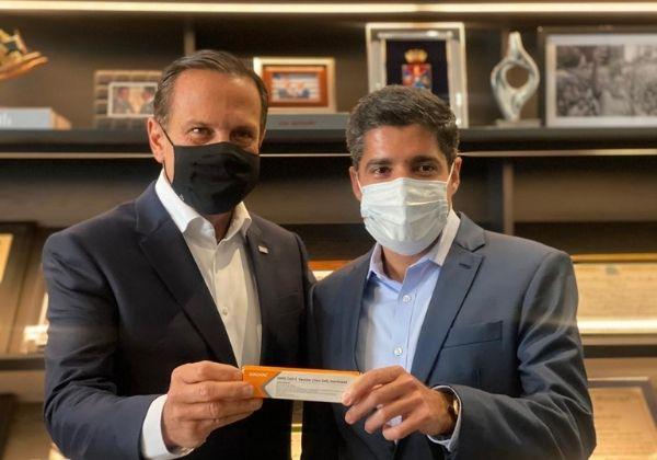 ACM Neto, presidente do DEM, e João Doria (PSDB), governador de São Paulo