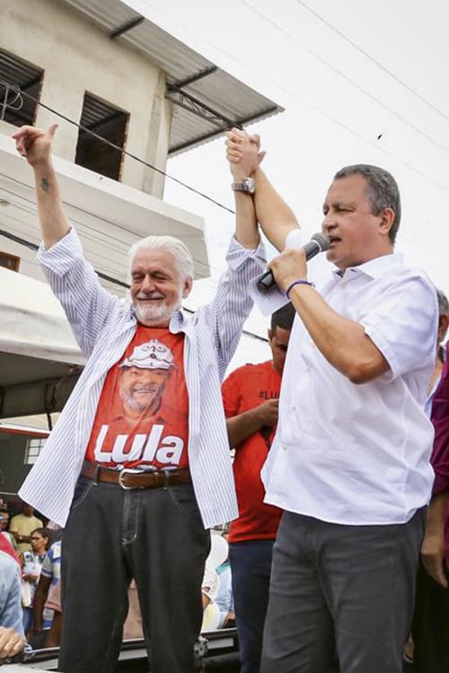 LONGEVIDADE -Wagner e Costa: os petistas comandam a Bahia desde 2007 -