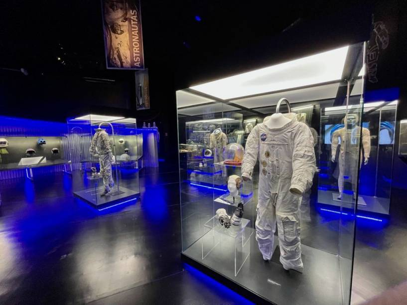 Exposição 'Space Adventure' traz réplicas e objetos originais da exploração espacial