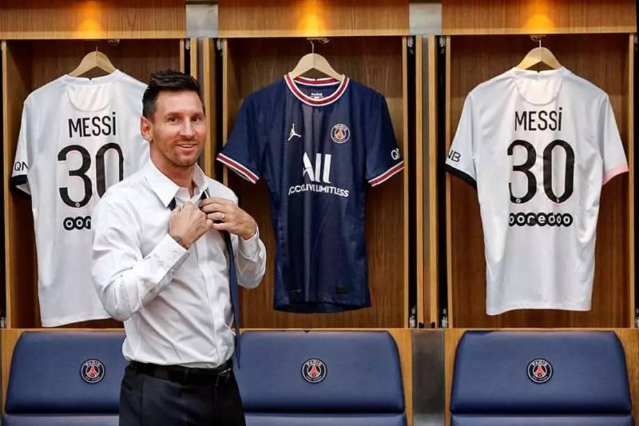Messi vestirá a camisa 30 no PSG -