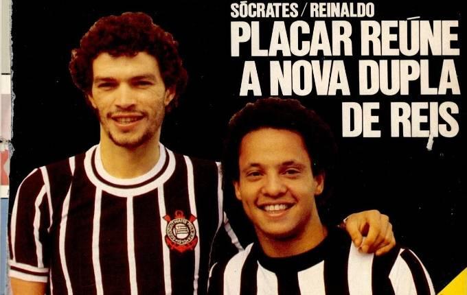 Sócrates e Reinaldo em capa da PLACAR de 1979